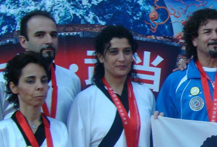 Sabrina Pili in una foto di gruppo