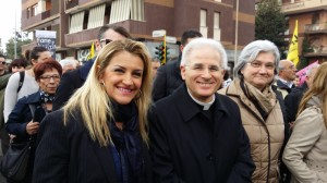 Sonia Alfano, monsignor Mariano Crociata, Rosy Bindi a Latina