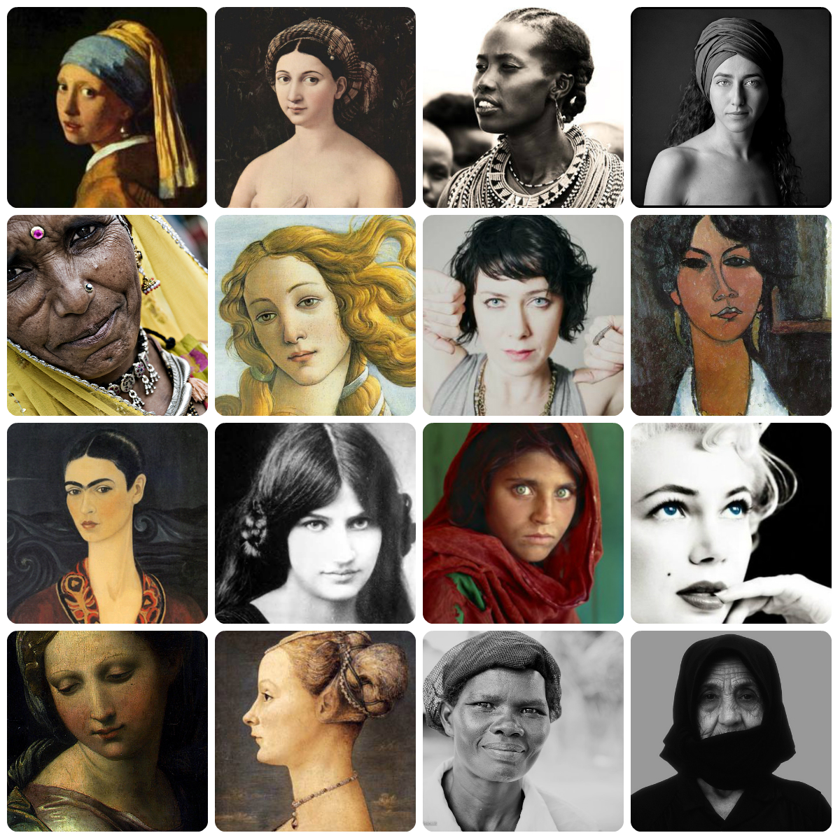 collage donne