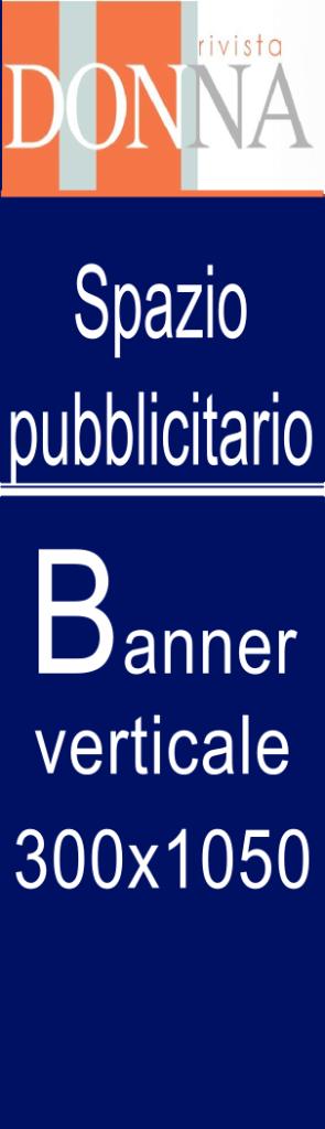 banner verticale blu