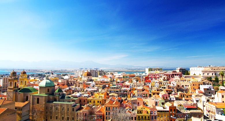 Cityscape, Cagliari, Sardinia, Italy
