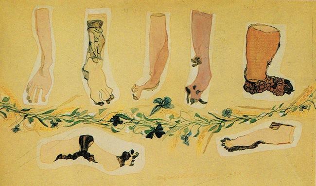 Carol-Rama-Teatrino-n.-2-1937-acquarello-e-pastello-su-carta-138x23-cm.