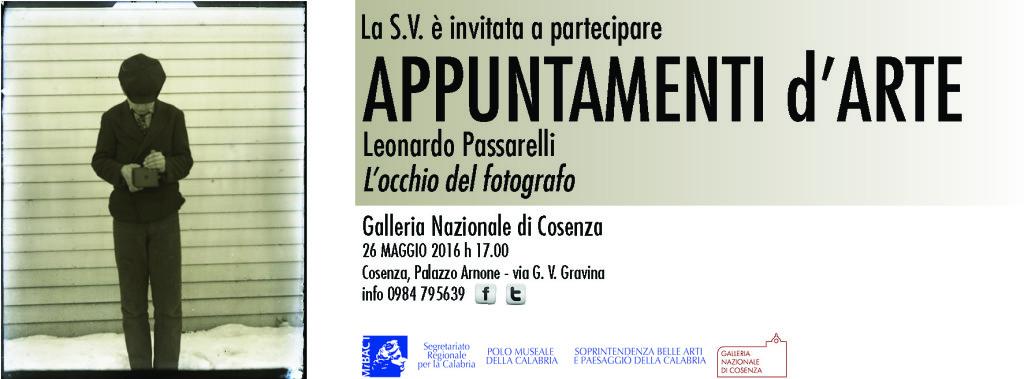 26 maggio 2016 - Galleria Nazionale di Cosenza - Palazzo Arnone - Conferenza di Leonardo Passarelli
