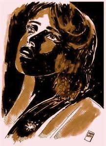 Una donna raffigurata dal nostro pittore e fumettista Umberto Buffa, collaboratore di RivistaDonna