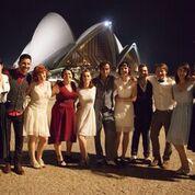 Franceschino col suo gruppo di ballo a Sidney.