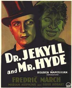 Locandina di uno dei primi film su Dr Jekyll e Mr. Hyde