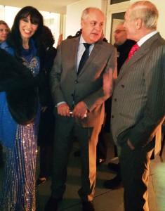 Ester Campese e l'ambasciatore del Marocco in Italia Hassan Habouyoub