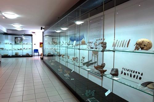 L'interno del Museo di Crotone