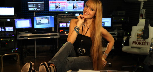 Georgia nello studio della trasmissione da lei condotta. Foto di Michele Simolo