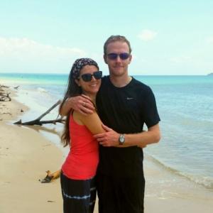 Elisa e il marito Sean.