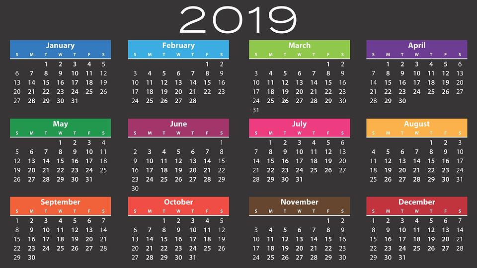 Calendario Feste.Calendario Delle Vacanze 2019 Ponti E Festivita Rivista Donna